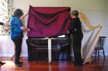 Unveiling the new piano