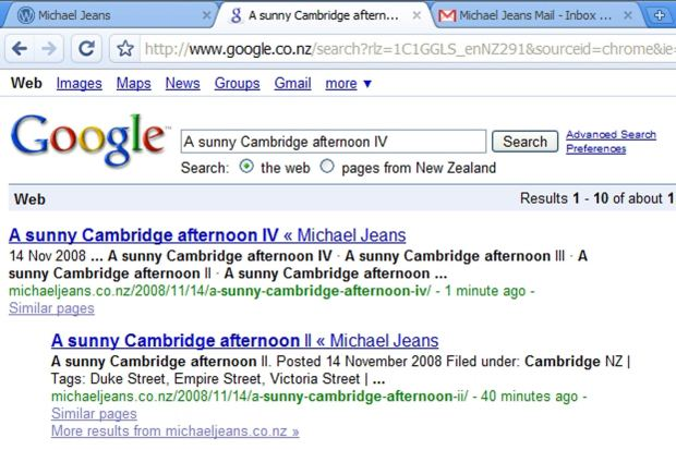 Google and me - a bit of milestone