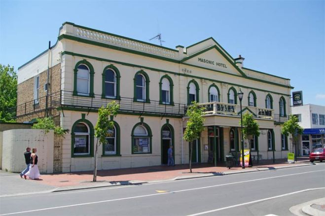 The Masonic Hotel, Duke Street, Cambridge, New Zealand