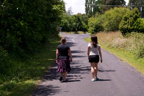 Abbie and Camilla, Tikorangi Road, Taranaki