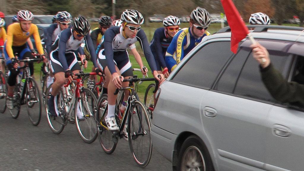 Cycling race Taylor Street 18/2/2012
