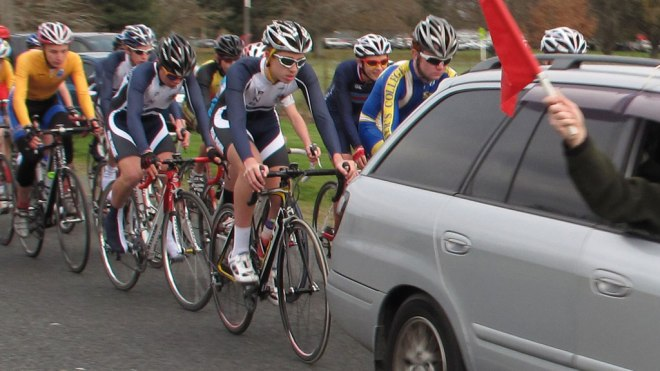 Cycle racing Taylor Street 18/2/2012