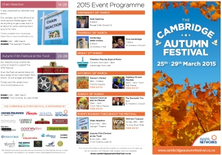 Cambridge Autumn Festival 2015