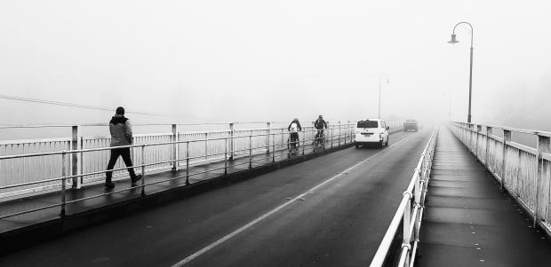 Crossing the Waikato River. Victoria Bridge, Cambridge, Waikato. 7:52AM 2.8.2018
