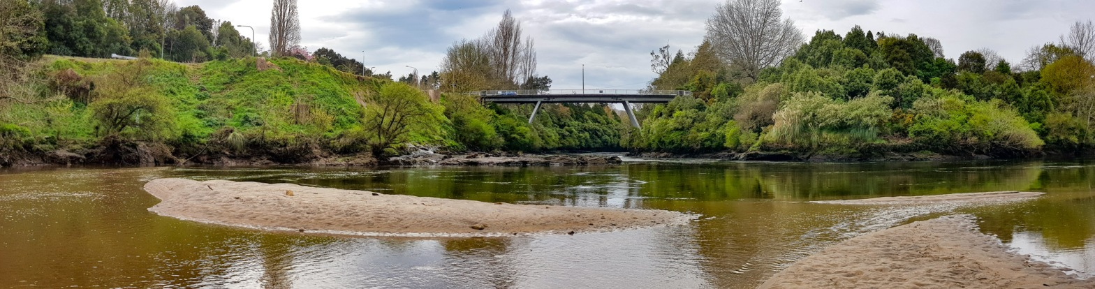 Waikato River, Cambridge, Waikato, New Zealand.