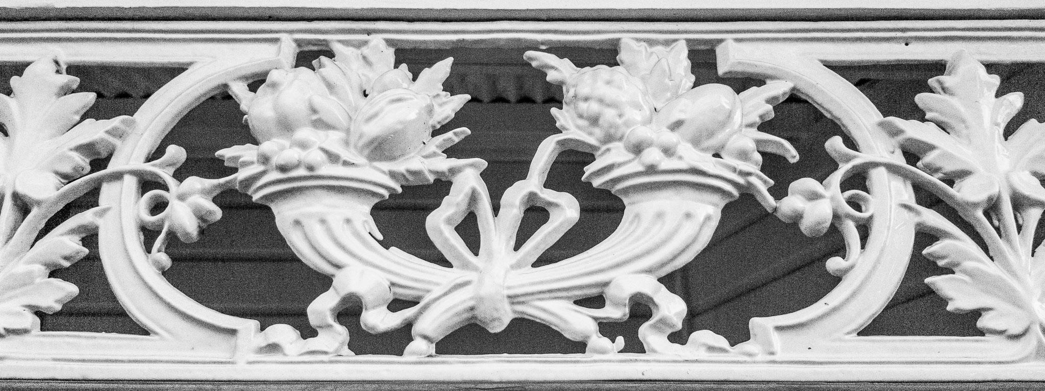 wrought iron detail, Leamington band rotunda Leamington Domain. 25 July 2018