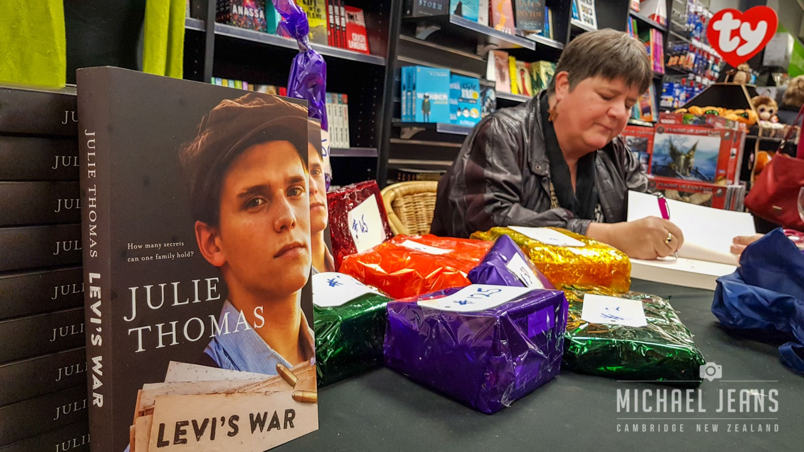 Julie Thomas book signing at the launch of Levi's War 11/6/2018