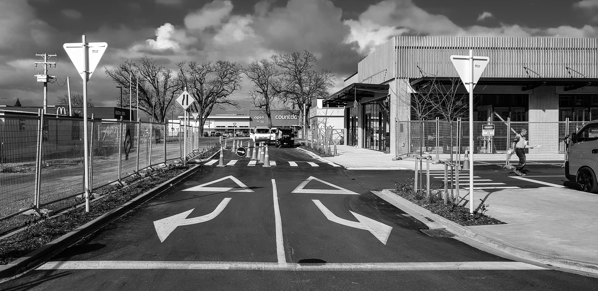 black & white week; new developments. Lakewood Cambridge, Waikato, New Zealand. 1 August 2018 (65)