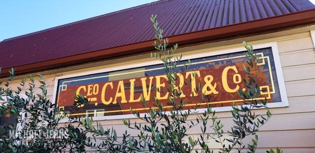 Geo. Calvert & Co. sign, Empire Street, Cambridge, Waikato, New Zealand.
