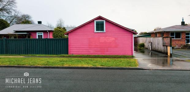 .. just a tad (tinch / tad / smidgen) enhanced for a rainy afternoon, street view, Leamington, Waikato, New Zealand. 2018-07-09 16.40.14