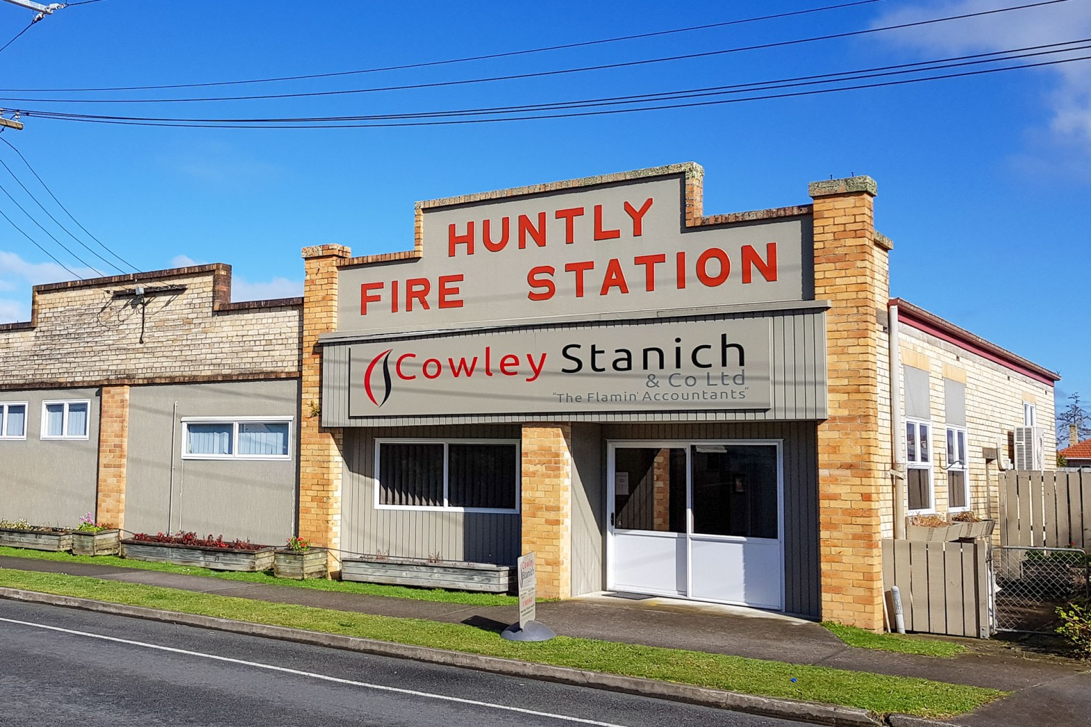 Cowley Stanich & Co Ltd, Huntly Fire Station, 9 Hakanoa Street, Huntly, Waikato. 2018-08-06-Monday