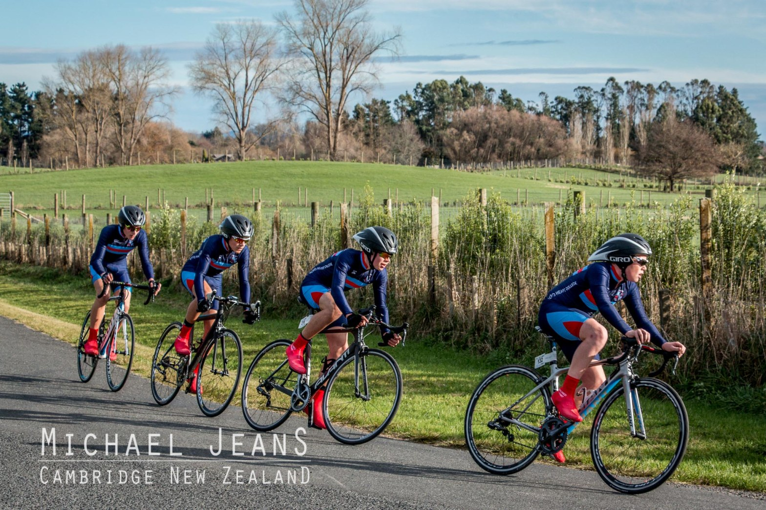 Scared Heart College Auckland cyclists compete at the 2016 North Island Secondary Schools Cycling Championships
