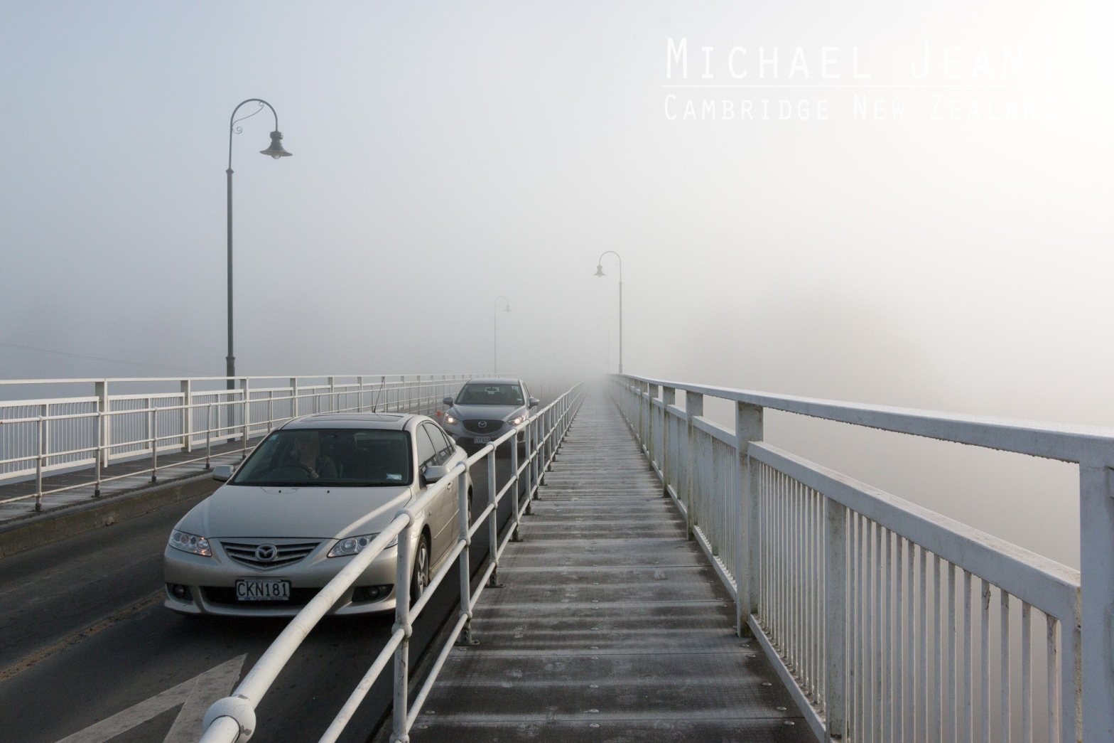 Victoria Bridge Waikato River Cambridge New Zealand