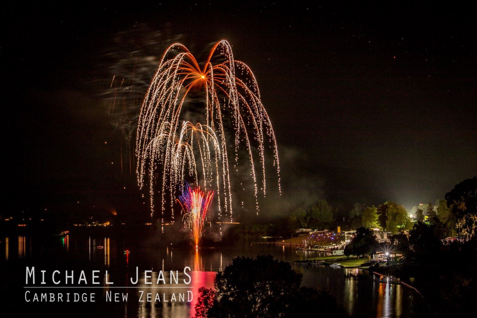 Fireworks Lake Karapiro Hydro Dam Waikato November 2016
